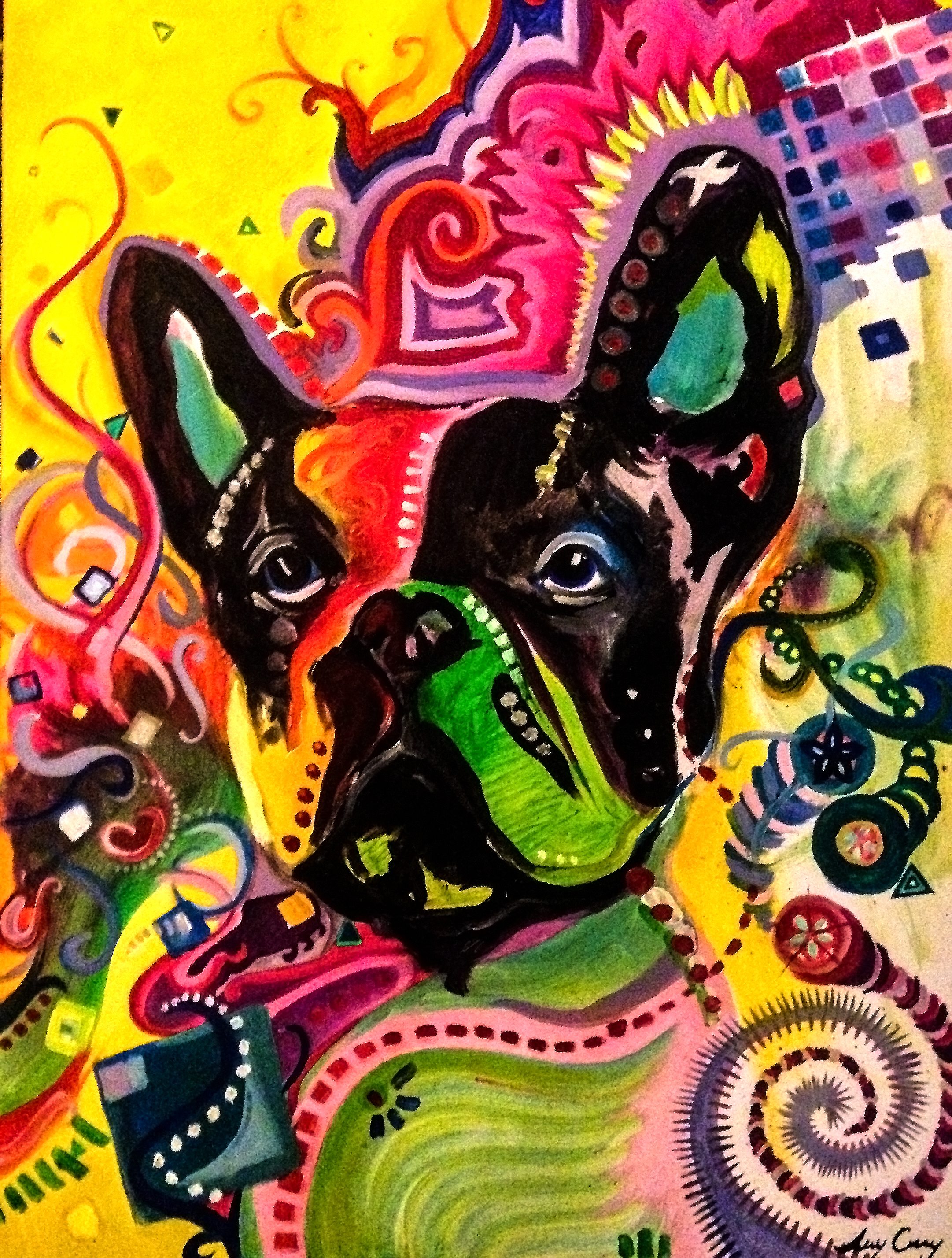 psychadelic dog